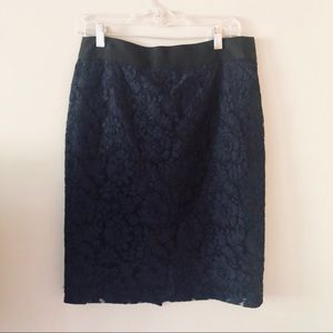 J. Crew lace pencil skirt